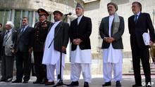 Afghanistan Präsident Harmid Karsai mit Regierung in Kabul