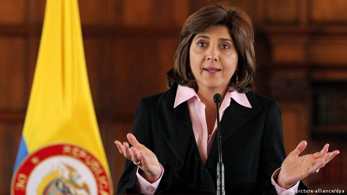 La ministra colombia de Exteriores, Maria Angela Holguin.
