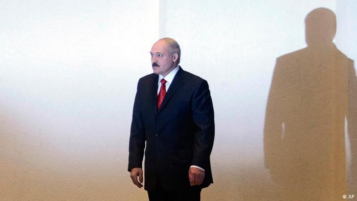 Belarusian President Alexander Lukashenko at a news conference after winning another election