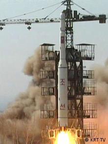 A North Korean rocket