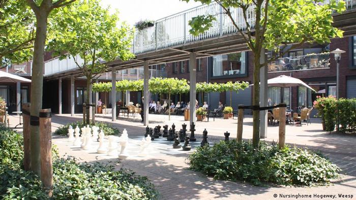 The main square at Hogewey
