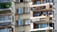 Ein Wohnblock im polnischen Breslau, aufgenommen am 11.09.2011. Foto: Robert Schlesinger dpa 26889500