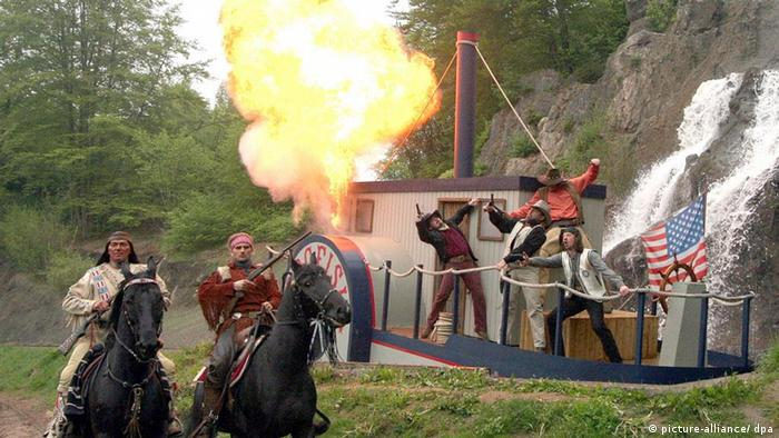 Recreation of a Karl May novel at the Karl-May-Festspiele
