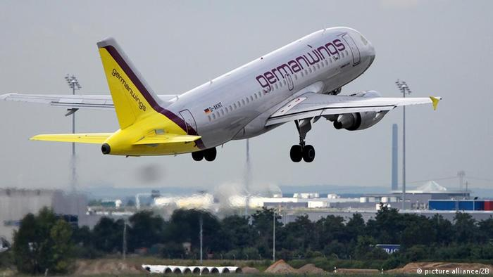 Самолет компании Germanwings в Лейпциге