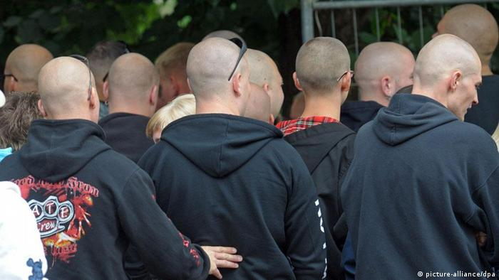 Neo-Nazis attend a concert in Gera, Germany Photo: Peter Müller dpa/lth