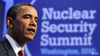 Barack Obama durante la cumrbe sobre seguridad nuclear en Washington.