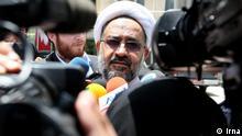 Haidar Moslehi, Iranische Geheimdienstminister bei der Presse; Copyright: Irna