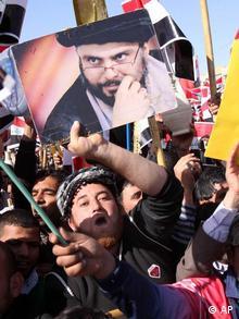 تصویری از راهپیمایی روز دوشنبه در بصره
