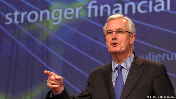 Michel Barnier, the European Union Commissioner for Internal Market and Services EPA/OLIVIER HOSLET