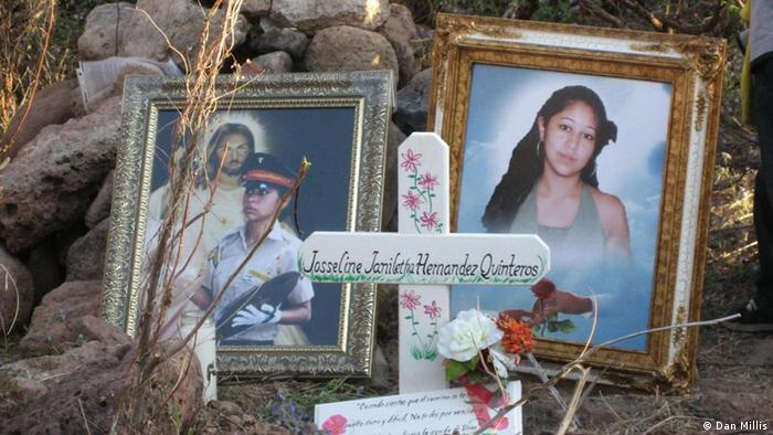 Altar in memory of Josseline Jamileth Hernandez Quinteros