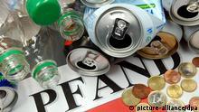 10 Jahre Dosenpfand Leere Getränkedosen Kunststofflaschen