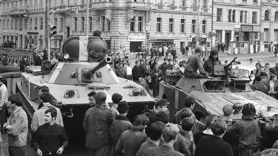 Резултат с изображение за Инвазия на войските на Варшавския договор в Чехословакия.