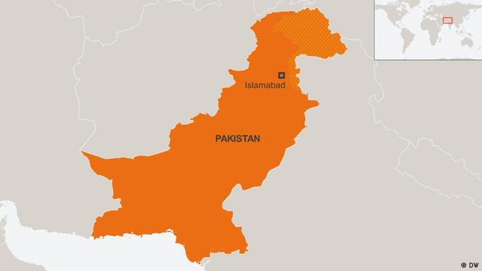 Karte Pakistan Deutsch Englisch