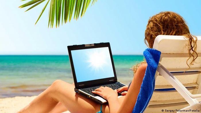 Surfen Internet Strand
