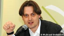 """Стенд проекту """"100 німецьких книг"""" у книгарні """"Є"""" у Києві"""
