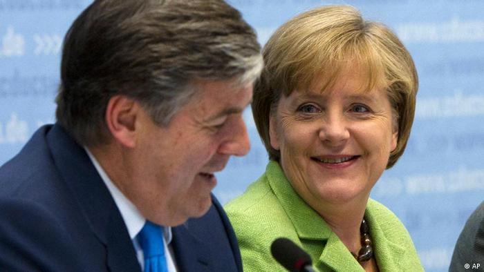 Josef Ackermann Angela Merkel