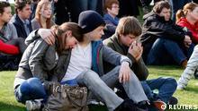 Belgien Trauerfeier in Lommel nach Busunglück