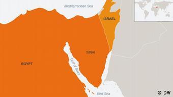 Karte Sinai Englisch (DW)