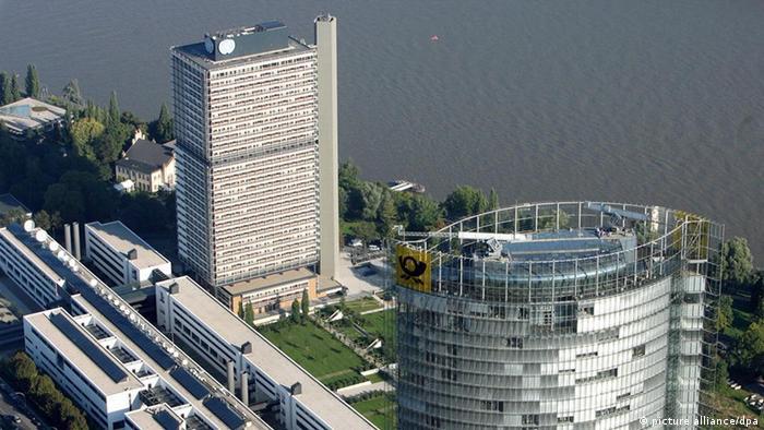 Длинный Ойген, Deutsche Welle и башня Deutsche Post