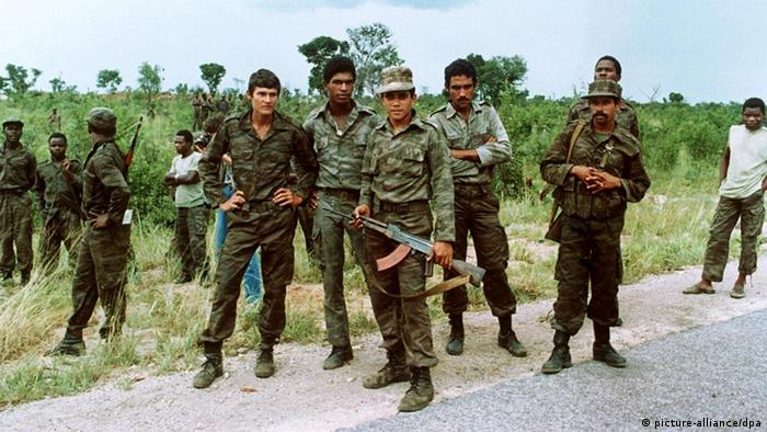 Cuban soldiers in Angola in 1988