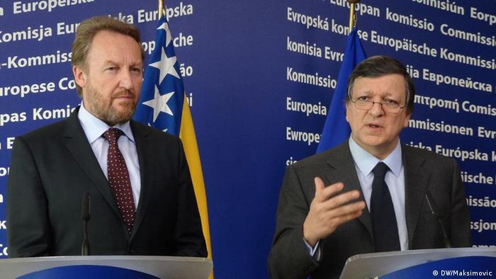 Član Predsjedništva BiH Bakir Izetbegović i predsjednik Evropske komisije Baroso