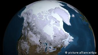 Ice cover across the Arctic region. Photo: NASA Goddard's Scientific Visualization Studio (zu dpa-Korr. 0430 vom 03.12.2009) +++(c) dpa - Bildfunk+++