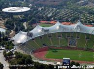 Cobertura em membrana acrílica do Estádio Olímpico de Munique, construído entre 1968 e 1972