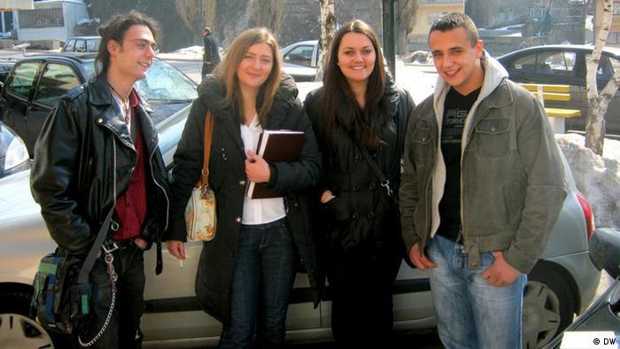 A Bosnian Muslim, a Bosnian Croat, a Bosnian Serb and a Bosnian of mixed descent, March 2012