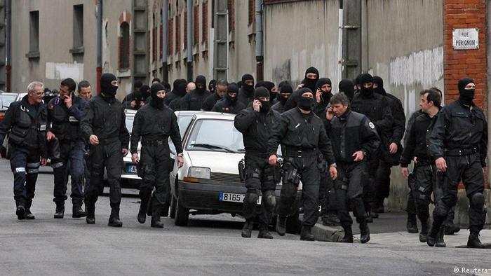 Unităţile speciale ale poliţiei franceze, la Toulouse