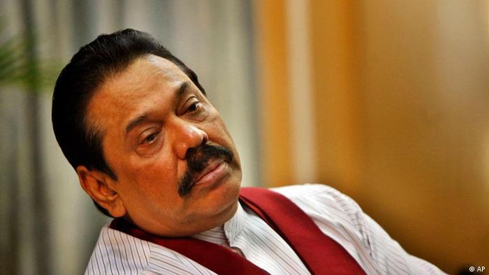 Sri Lanka Präsident Mahinda Rajapaksa Colombo