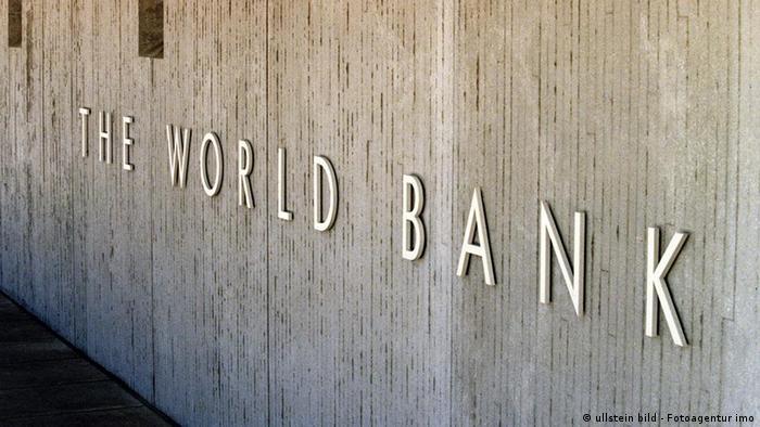 USA Wirtschaft Washington DC Zentrale der Weltbank Gebäude Logo
