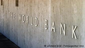 USA Wirtschaft Washington DC Zentrale der Weltbank Gebäude Logo (ullstein bild - Fotoagentur imo)