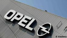 A logo of Opel is pictured at the Opel plant in Bochum March 23, 2012. General Motors' Opel managers will present a business plan next Wednesday that likely will involve reducing capacity by some 30 percent through the closure of two car plants in Europe, sources said. REUTERS/Ina Fassbender (GERMANY - Tags: TRANSPORT BUSINESS EMPLOYMENT LOGO)