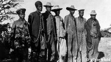 Herero prisoners in German Southwest Africa in 1904