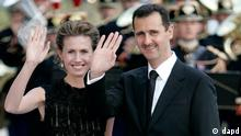 بشار اسد به همراه همسرش اسماء اسد
