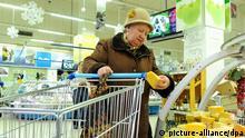 Supermarkt in Moskau - Einkäufe für Silvester