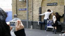 Bahnhof Kings Cross in London mit Harry Potter Gleis 9 3/4