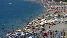 Tourismus Türkei Strand Konyaalti in Antalya