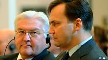 Frank-Walter Steinmeier und Radek Sikorski Zusammenarbeit Deutschland Polen