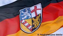 Ausschnitt Deutschland Flagge Saarland