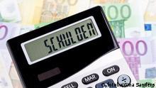 Taschenrechner Schulden Schulden © Gina Sanders #23672045