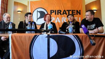 Pirates at an election campaign conference