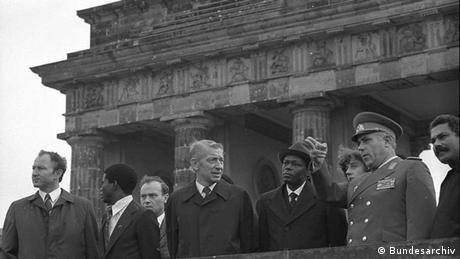 dos Santos visit the Brandenburg Gate