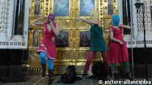 Protest Band Pussy Riot in Moskau