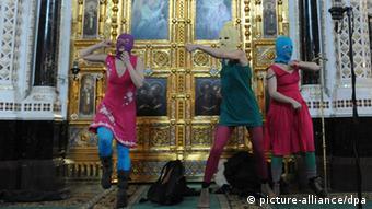 Під час панк-молебну Pussy-Riot