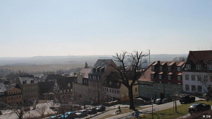 The view from Hohenstein-Ernstthal towards Zwickau