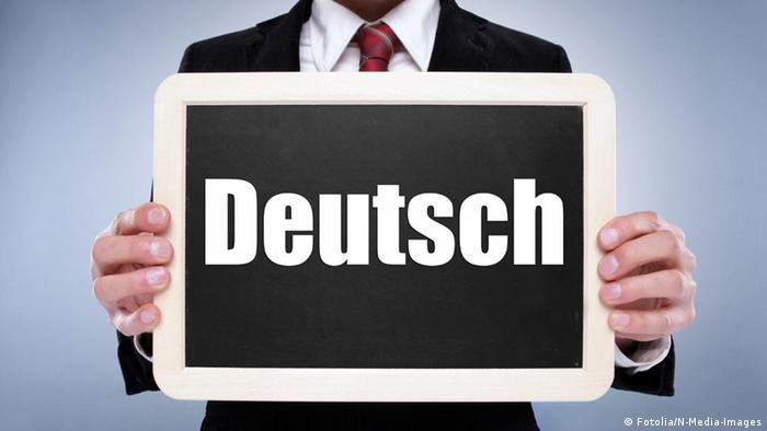 Доска с надписью: Deutsch