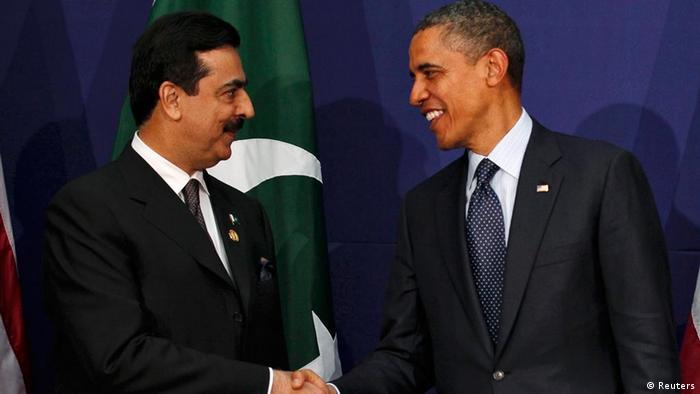 دیدار اوباما و گیلانی در سئول.