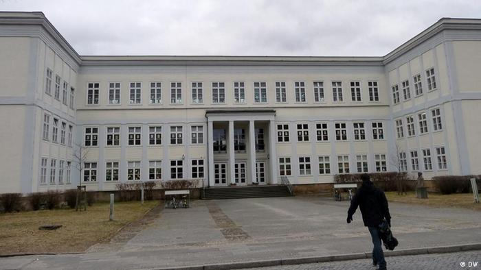 Former school in Eisenhüttenstadt, part of the old socialist town development
