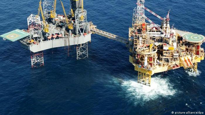 Elgin gas rig in the North Sea